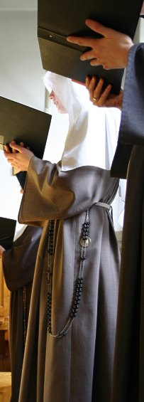 Poor Clares offer praise to God eight times a day, rising at midnight to pray for the world.